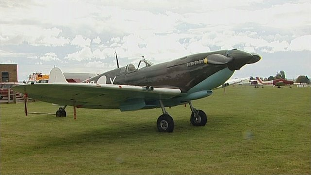 Thousands of people attend the Battle of Britain Airshow 2011 at Cotswold Airport near the village of Kemble, Gloucestershire