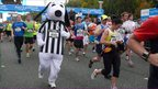 Runner dresses as a dog, Great North Run 2011