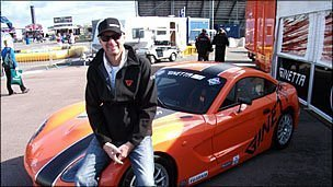 Lawrence Tomlinson with one of his Ginetta cars