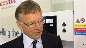Professor Kevin Kendall, hydrogen and fuel cell expert from Birmingham University.