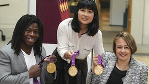Ade Adepitan, Lin Cheung and Dame Tanni Grey-Thompson