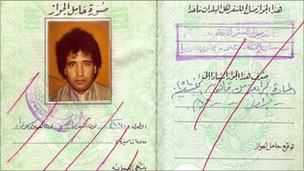 Megrahi's false passport