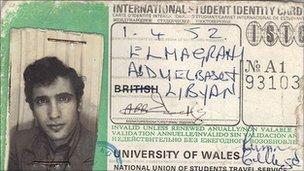 Megrahi student card
