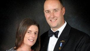 Lt Cdr Molyneux and his wife