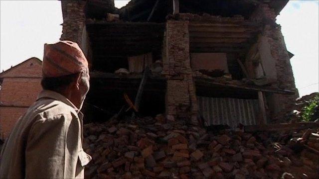 Quake damage in Nepal
