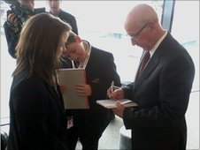 School Reporters meet Sir Bobby Charlton