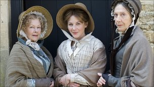 Dame Judi Dench, Lisa Dillon and Dame Eileen Atkins in Cranford