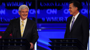 Newt Gingrich and Mitt Romney