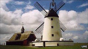 Lytham Windmill and former RNLI boathouse