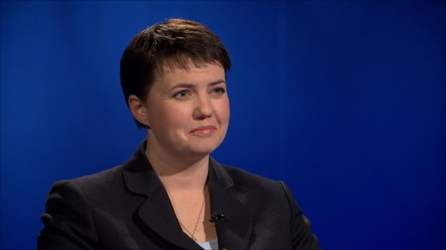 Ruth Davidson is one of three Scottish Tory leadership contender