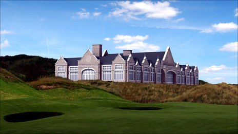Images show planned Donald Trump golf clubhouse - BBC News