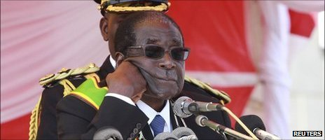 President Mugabe at a rally in Harare (August 2011)