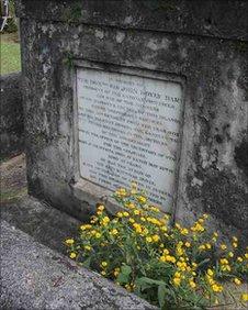 Sir John D'Oyly's grave