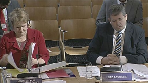 The lord advocate and minister for community safety give evidence to the Justice Committee