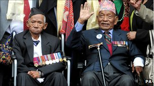 Gurkha veterans in 2008