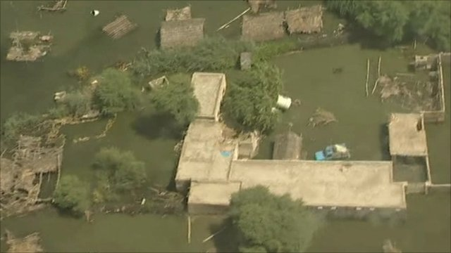 Flood affected area in Pakistan