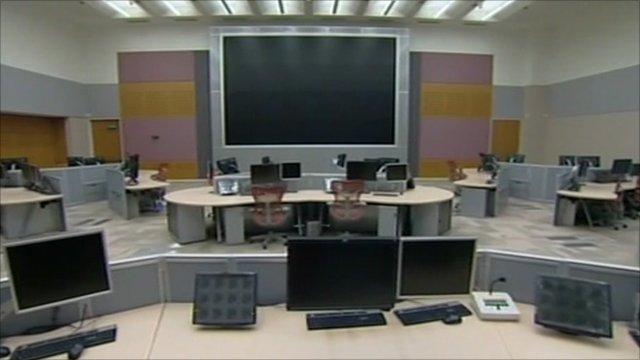 An unused regional 999 control centre