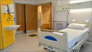 Bedroom at the hospital