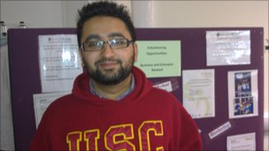 Nabil Ahmed represents the Federation of Islamic Student Societies