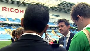 Seb Coe at the Ricoh Stadium