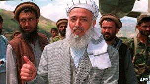 Burhanuddin Rabbani in 1998