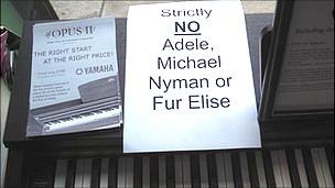 'No Adele' sign