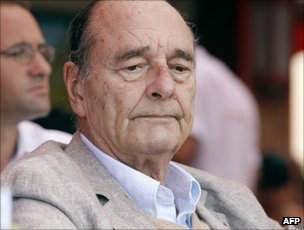Former French President Jacques Chirac on holiday in St Tropez, 14 August