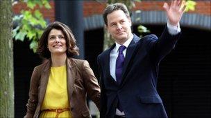 Miriam and Nick Clegg
