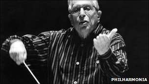 Kurt Sanderling. Picture courtesy of Philharmonia
