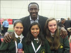 School Reporters with former sprinter Linford Christie