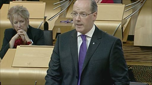 Finance Secretary John Swinney delivers the Strategic Spending Review