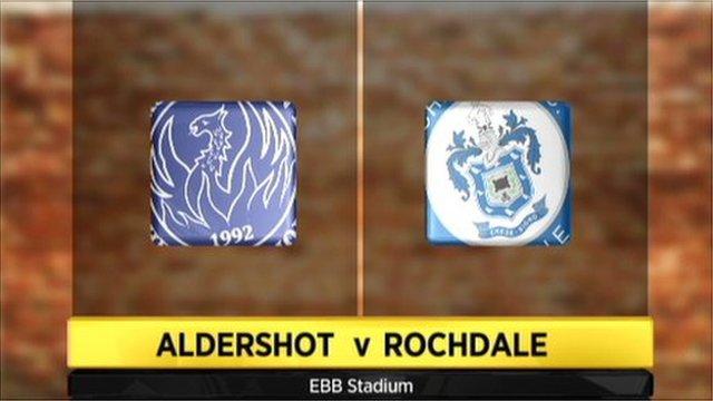 Aldershot 2-1 Rochdale