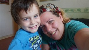 Sarah Ellacott with her son Matthew