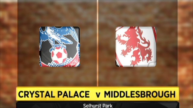 Crystal Palace 2-1 Middlesbrough