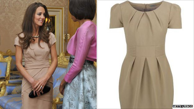 Kate Middleton and beige dress