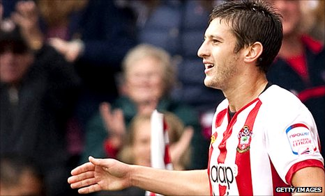 Southampton scorer Adam Lallana