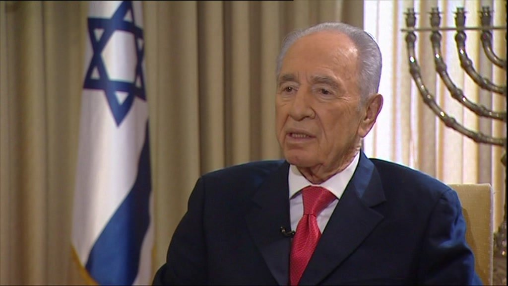 Israel's President Shimon Peres