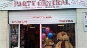 Party Central shop