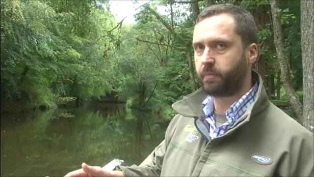Environment Agency officer Ben Wilson