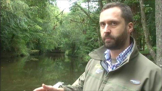 Environment Agency officer Ben Wilson