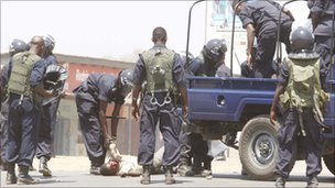 Police in Kitwe - 22 September 2011