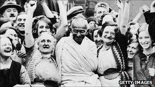 Ghandi in England 1931