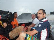 Pastor Maldonado sailing with the BBC