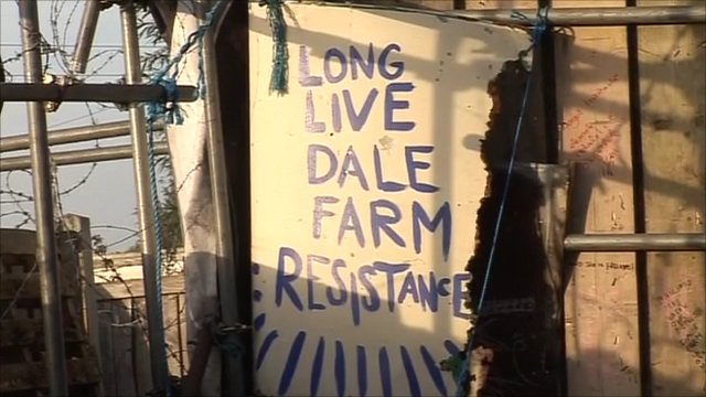 Poster at Dale Farm