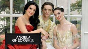 Angela Gheorghiu, Sergei Polunin and Lauren Cuthbertson