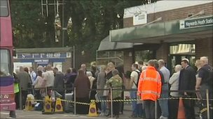 Bus queues at Haywards Heath Station