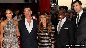 X Factor USA's Nicole Scherzinger, Simon Cowell, Paula Abdul, LA Reid and Steve Jones