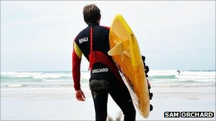 RNLI lifeguard (pic: Sam Orchard)