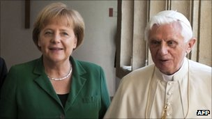 Chancellor Angela Merkel with Pope Benedict XVI