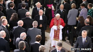 Pope Benedict at ecumencial service in Erfurt